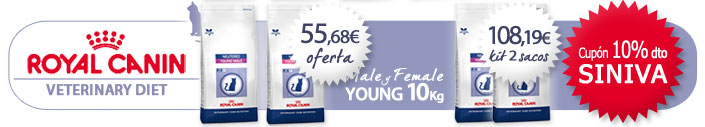 Pienso para gatos Royal Canin Veterinary Diet Young Male y Female 10Kg +Cup�n regalo descuento 10%