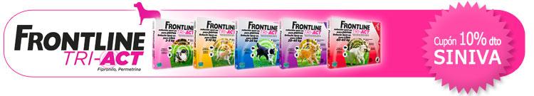 Antiparasitario Externo para Perro FrontLine Tri-Act +Cupón descuento 10% al finalizar el proceso de compra