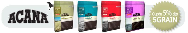 Pienso para Perros Grain Free Acana +Cupón descuento 5% al finalizar el proceso de compra