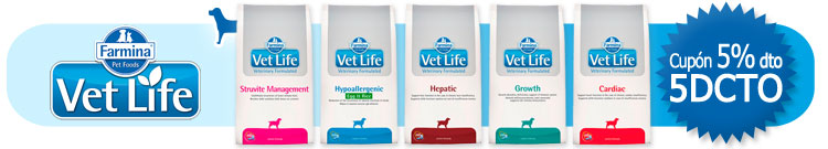 """Pienso para Perros Grain Free Farmina Vet Life +Cupón """"5DCTO"""" descuento 5% al finalizar el proceso de compra"""