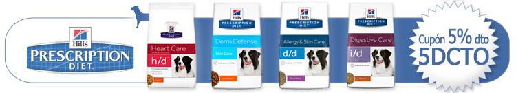 """Pienso para perros Hills Prescription Diet para Perro +Cupón """"5DCTO"""" descuento 5% al finalizar el proceso de compra"""