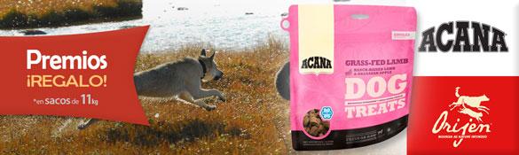 Premios de regalo con pienso para Perro Acana y Orijen