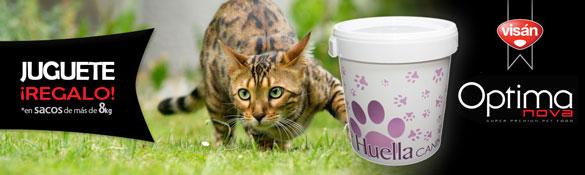 Regalo Bidón HuellaCanina.com por la compra de Pienso Optima Nova para Gato