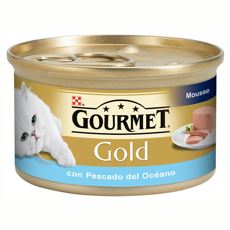 Gourmet Gold Mousse With Ocean Fish