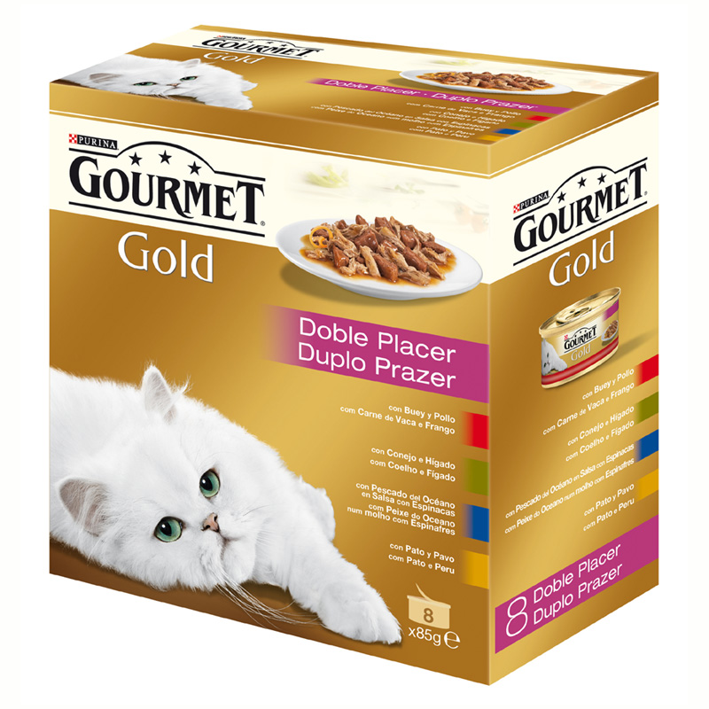 Gourmet Gold Double Delicacies Assortment 8x85gr