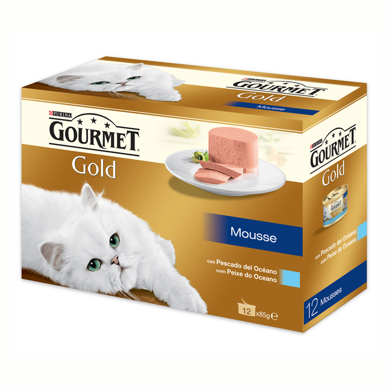 Gourmet Gold Mousse with Ocean Fish 12x85gr