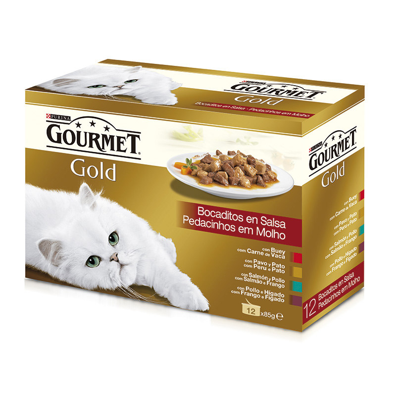 Gourmet Gold Chunks in Gravy Assortment 12x85gr
