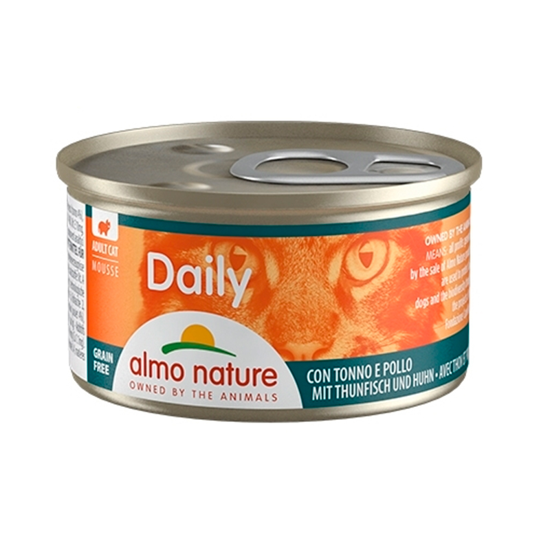 Almo Nature Daily Mousse Tuna & Chicken Can for Cat