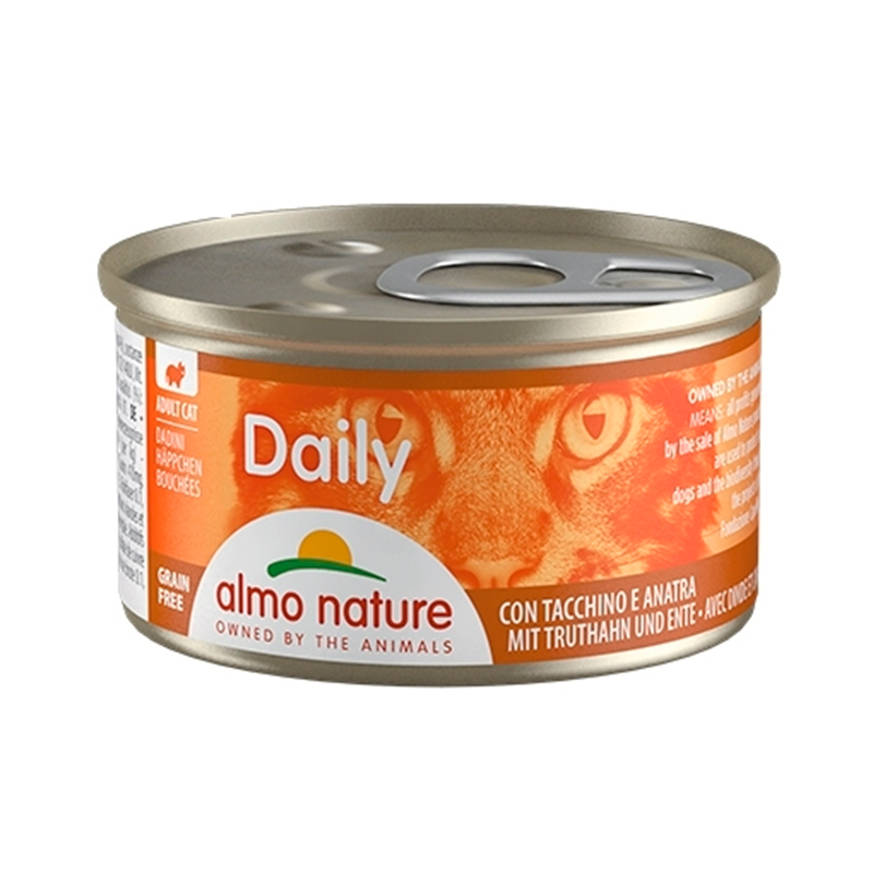 Almo Nature Daily chunks with Turkey & Duck Can for Cat