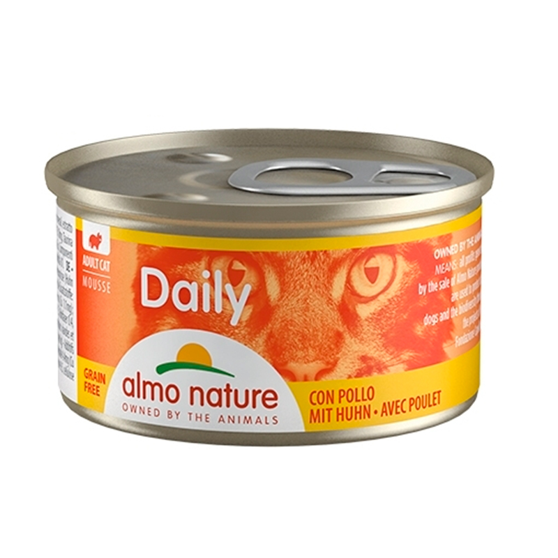 Almo Nature Daily Menu Mousse Pollo comida húmeda para gatos 85 Pavo