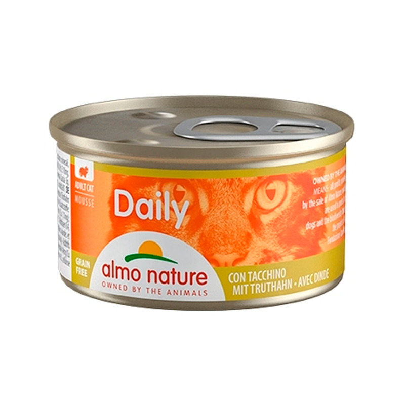 Almo Nature Daily Mousse Turkey Can for Cat