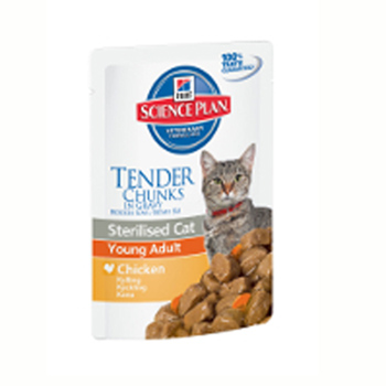 Hill's Science Plan Cat Young Adult Sterilised with Chicken (pouch) 85gr