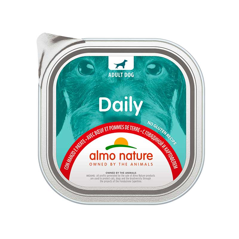 Almo Nature Daily Menu with Beef and Potatoes