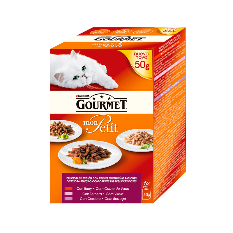 Mon Petit Gourmet Meat Selection with Beef, Veal and Lamb 6x50gr