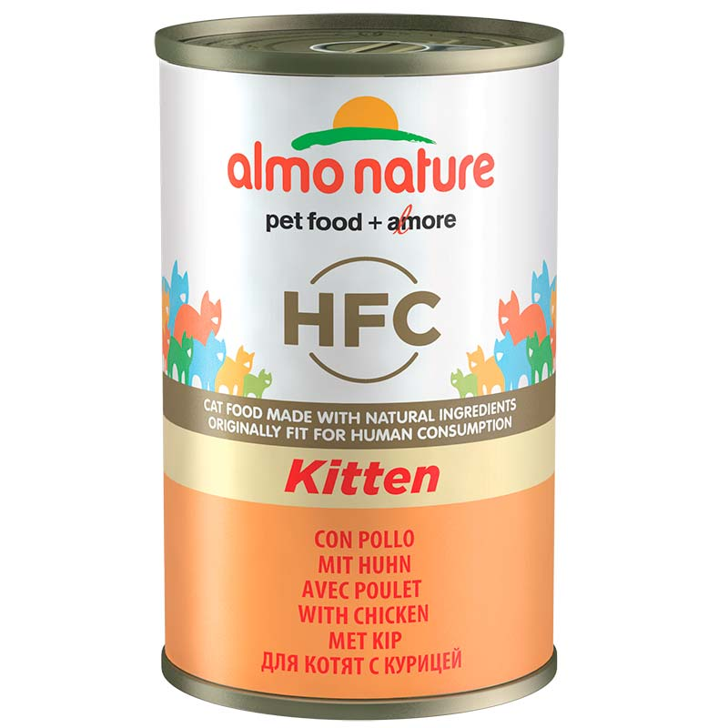 Almo Nature Classic Kitten with Chicken 140gr. Can for Cat