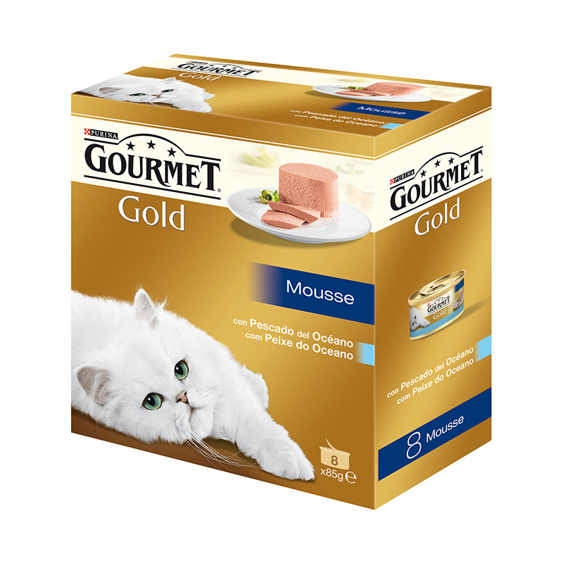 Gourmet Gold Mousse with Ocean Fish 8x85gr