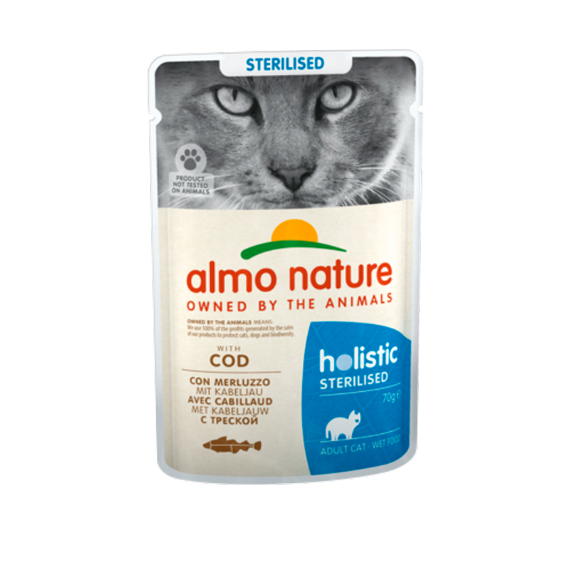 Almo Nature Adult Cat Sterilised con Bacalao en salsa 70gr