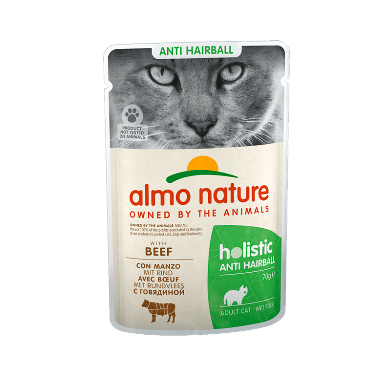 Almo Nature Daily Antihairball with Beef Pouch for Cat