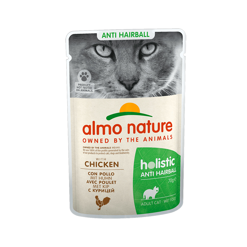 Almo Nature Daily Antihairball with Chicken Pouch for Cat