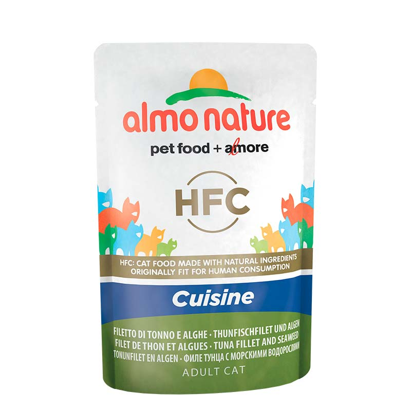 Almo Nature HFC Cuisine Tuna Fillet & Seaweed Pouch for Cat