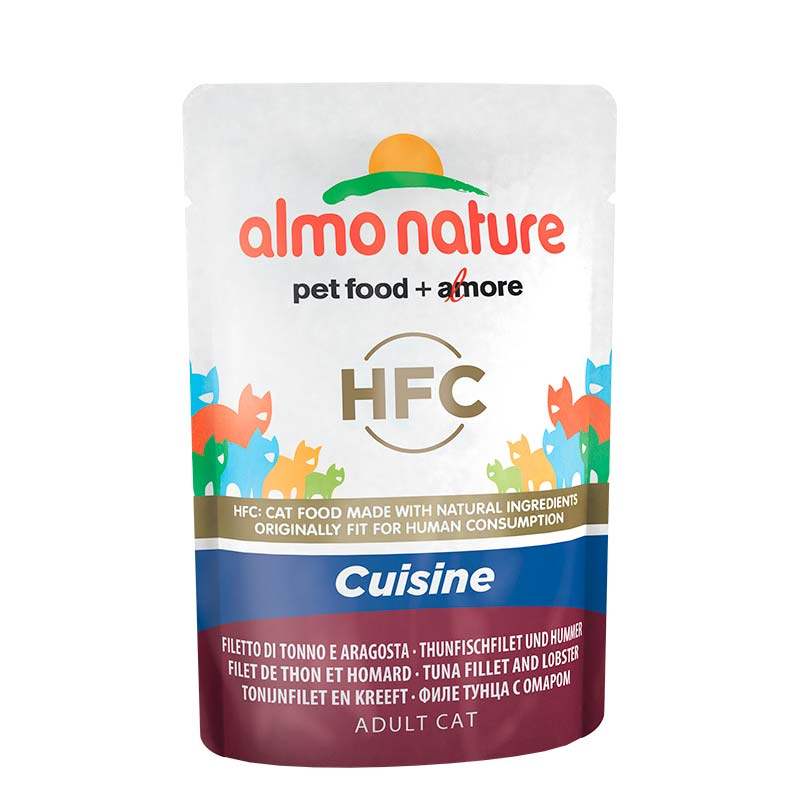 Almo Nature HFC Cuisine Tuna Fillet & Lobster Pouch for Cat