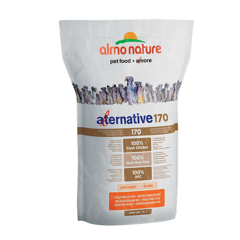 Almo Nature Dog Alternative Dry 170 M/L Pollo y Arroz