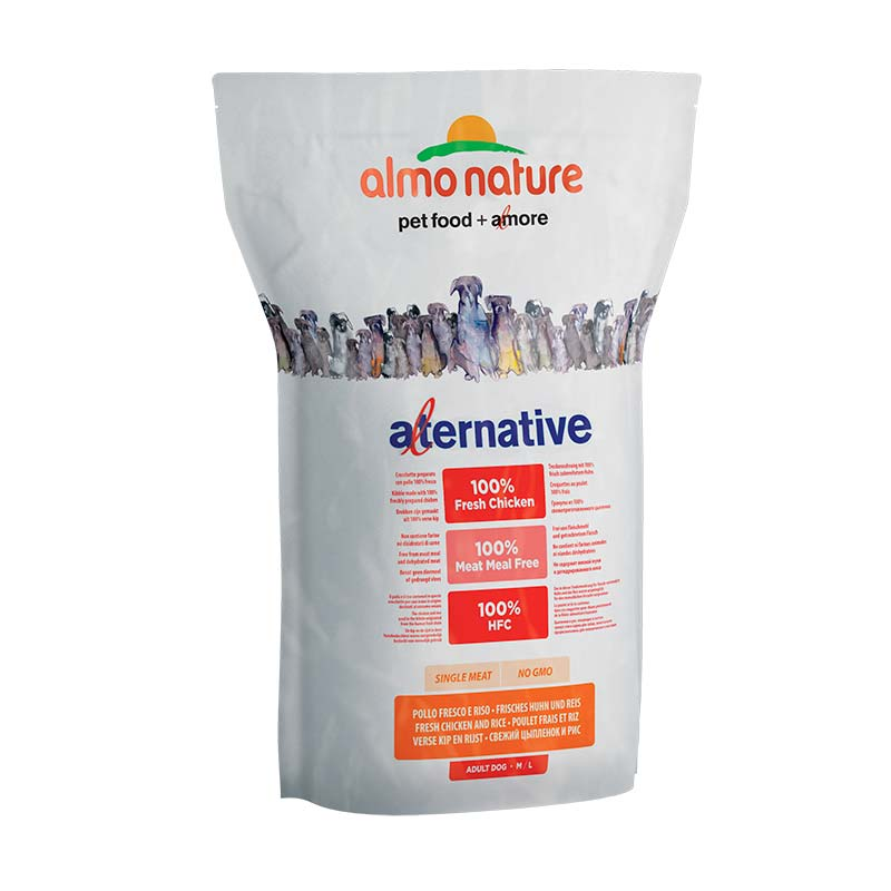 Almo Nature Dog Alternative Dry M/L Pollo y Arroz