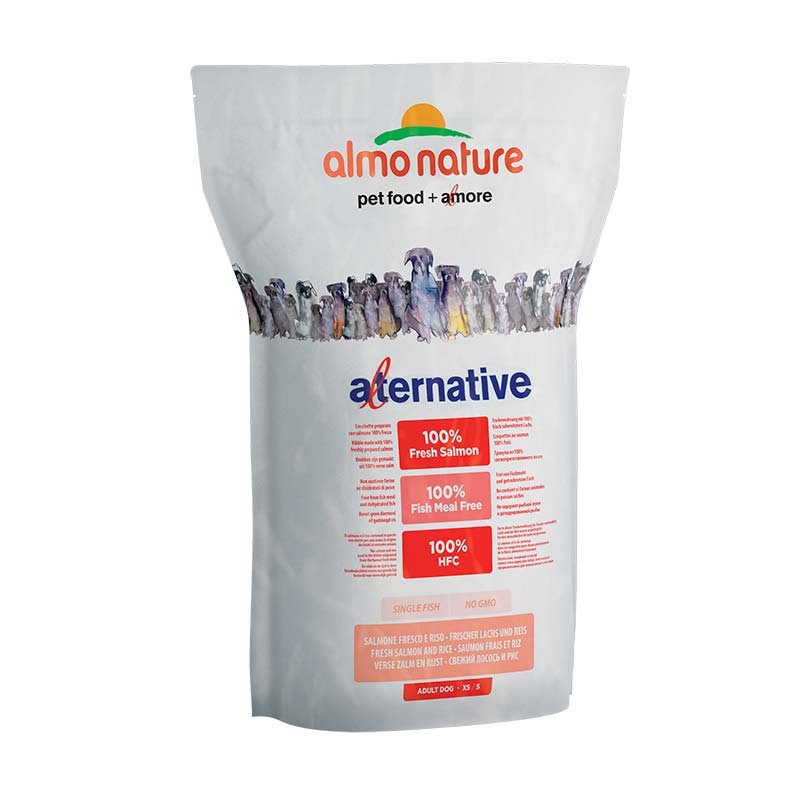Almo Nature Dog Alternative Dry XS/S Salmón y Arroz