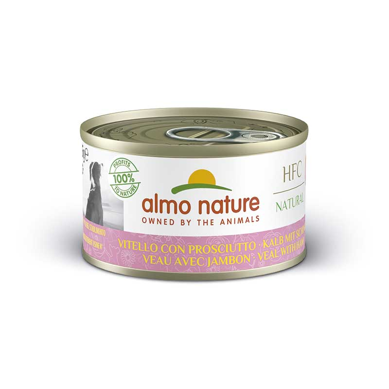 Almo Nature Classic Wet  Food with Veal with Ham
