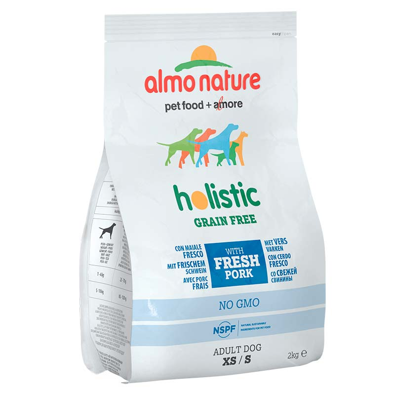 Almo Nature Holistic Grain Free Xsmall and Small Adult Pork & Potatoes