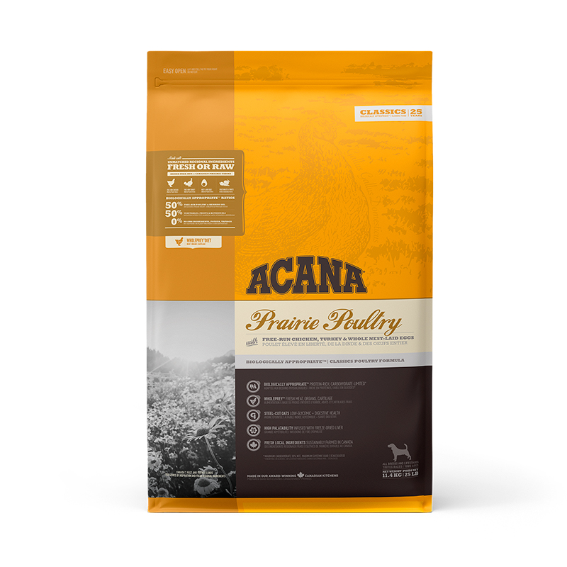 Acana Prairie Poultry for dogs