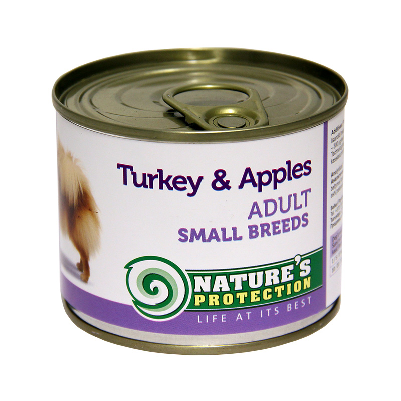 Nature´s Protection Adult Small Breeds Turkey & Apples 200gr