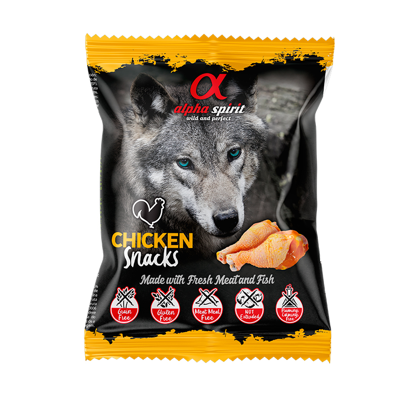 Alpha Spirit Snack Chicken for Dogs Bag