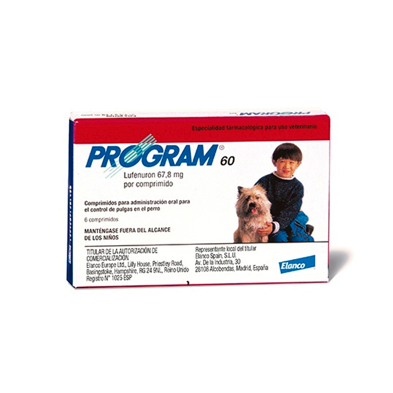 Antiparasitic Program 60 for Dogs 2.5 to 7 Kg.