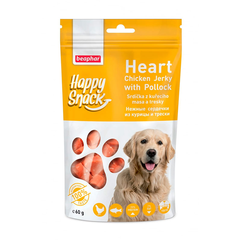 Beaphar Happy Snacks Dry Chicken Jerky Steak for dogs