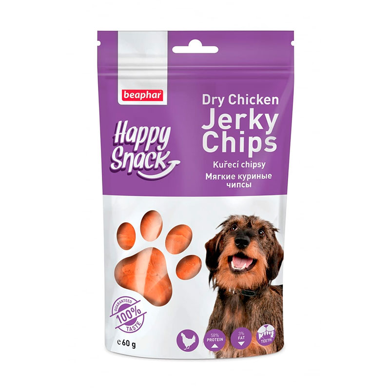 Beaphar Happy Snacks Dry Chicken Jerky Chips for dogs