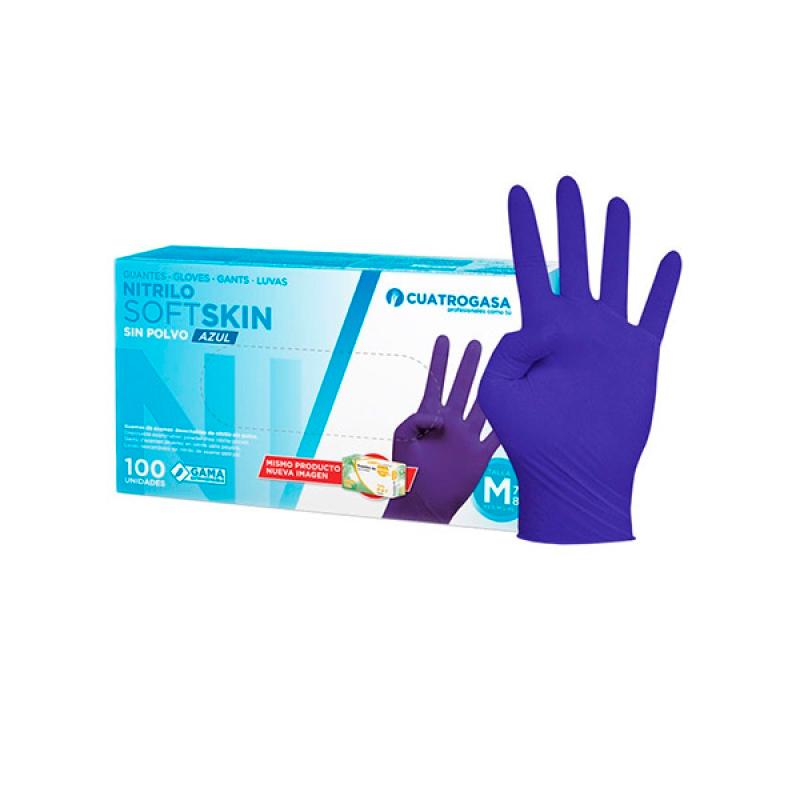 Bayeco Nitrile Softskin Gloves Blue
