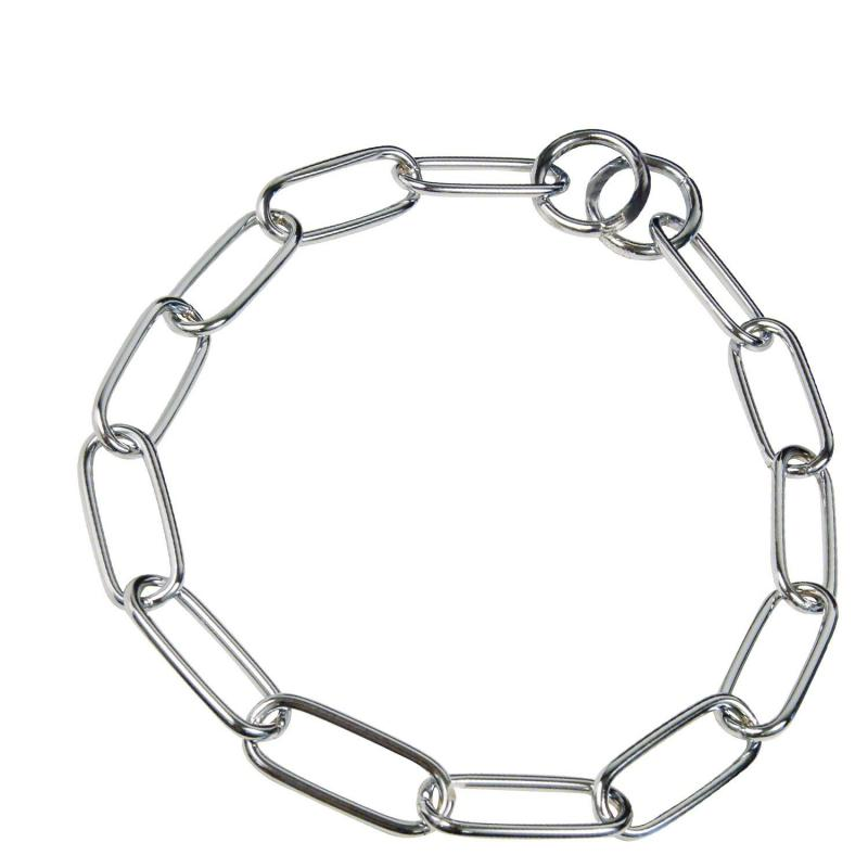 HS Sprenger Chrome Long Link Necklace 4mm Thick