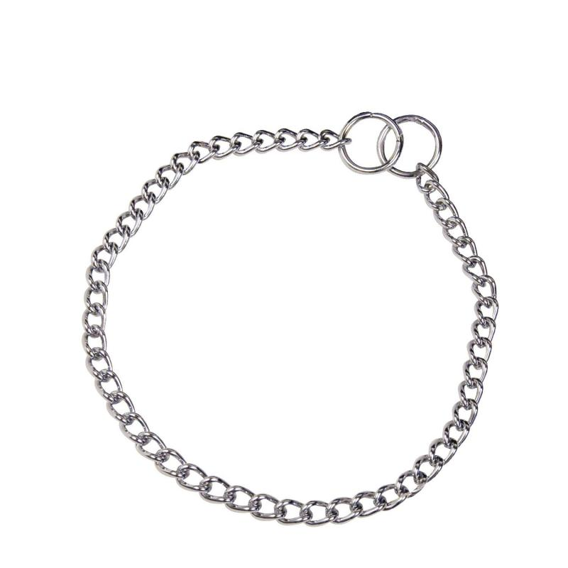 HS Sprenger Chrome Twisted Link Necklace