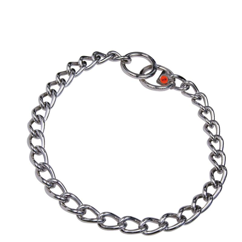 HS Sprenger Stainless Steel Twisted Link Necklace 4mm Thick