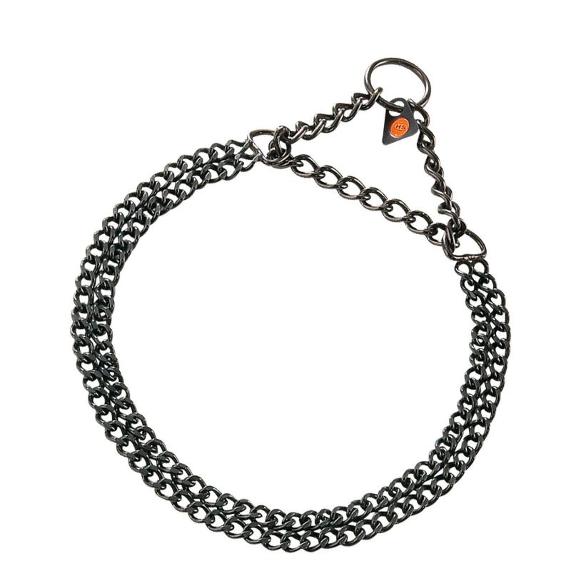 HS Sprenger Black Double Chain Stainless Necklace