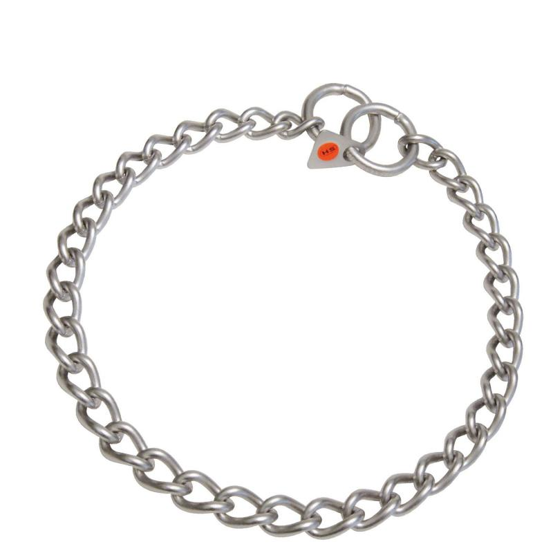 HS Sprenger Twisted Link Matte Stainless Necklace 3mm Thick
