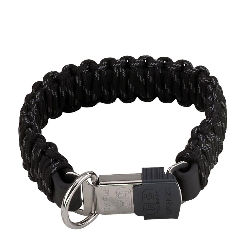 HS Sprenger Black Paracord Collar With Lock Clasp