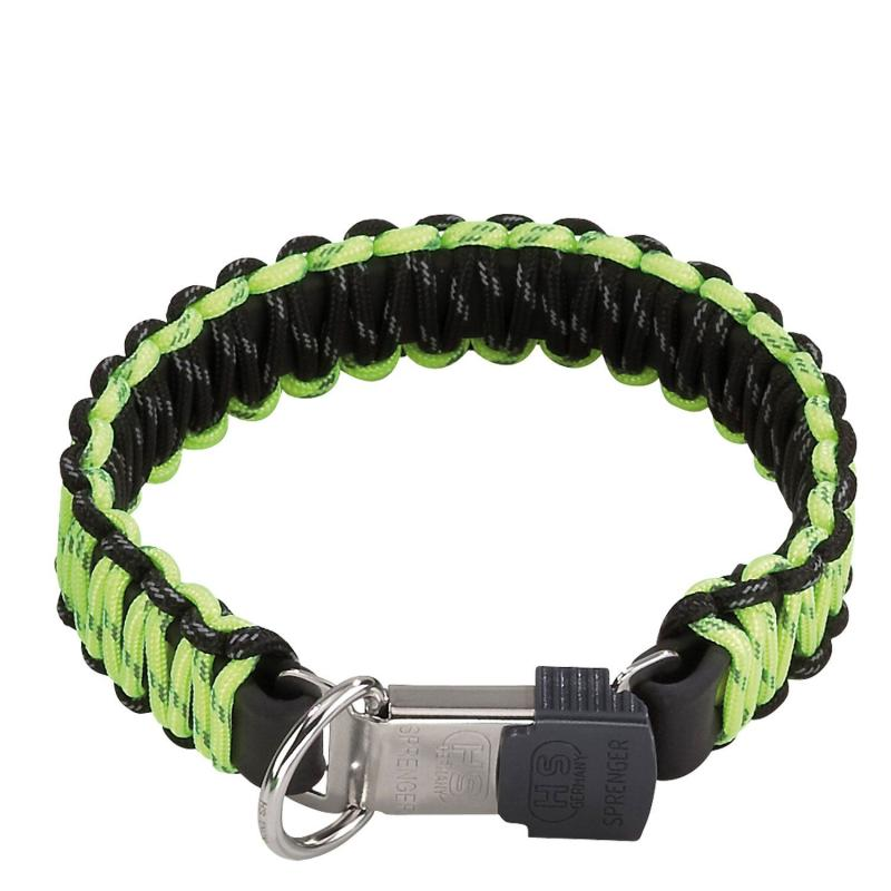 HS Sprenger Yellow Paracord Collar With Lock Clasp