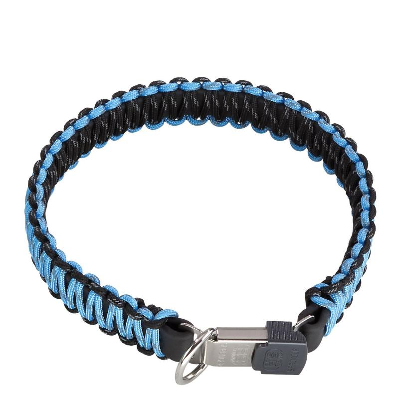 HS Sprenger Blue Paracord Collar With Lock Clasp