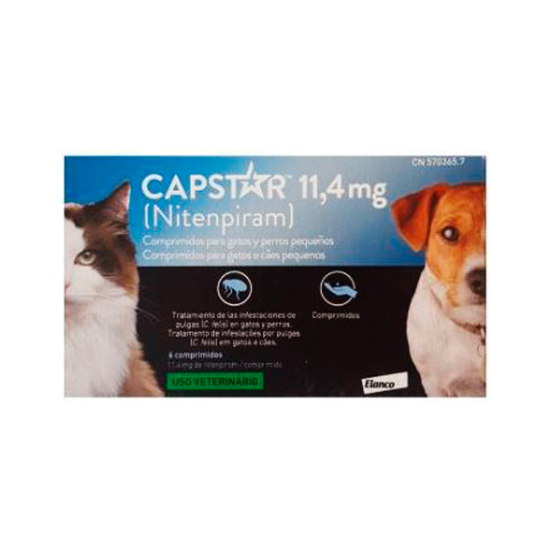 Capstar for Cats & Small Dogs 11.4 mg 6 Tablets Elanco