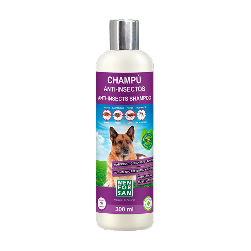 Menforsan Anti-insect Shampoo Dogs with Margosa, Geraniol, Lavandino