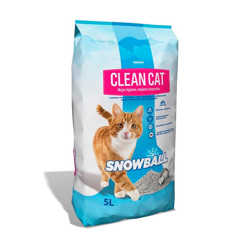 Cat Litter Clean Cat Snow Ball Compact Clumping 5L