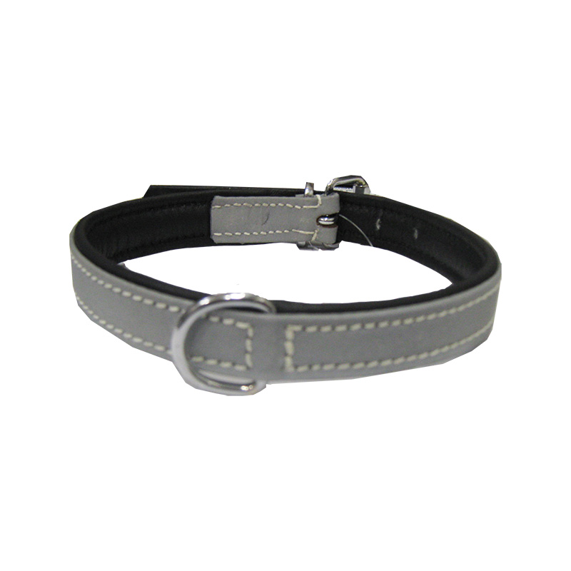 Collar Soft Leather Reflective
