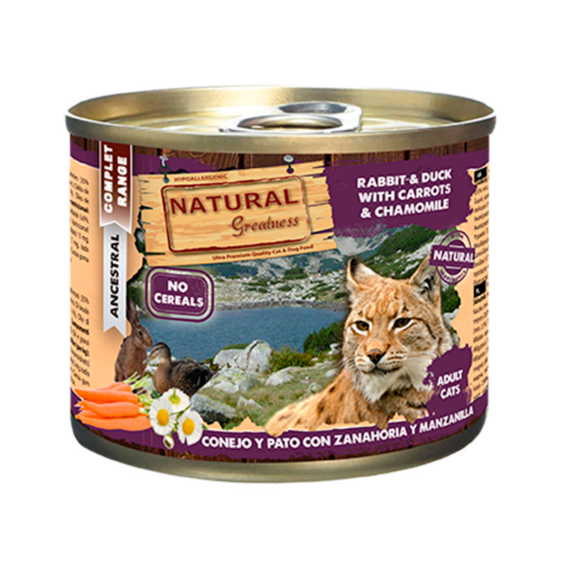 Natural Greatness Rabbit & Duck with Carrots & Chamomile. Wet food cats